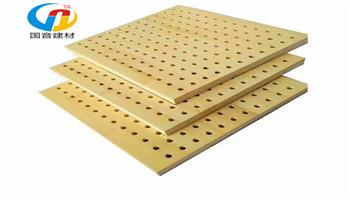 木质穿孔吸音板,实木穿孔吸音板,多层板穿孔吸音板